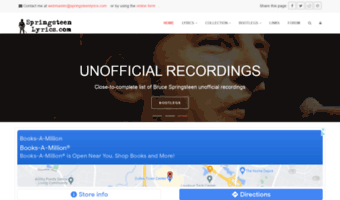springsteenlyrics.com
