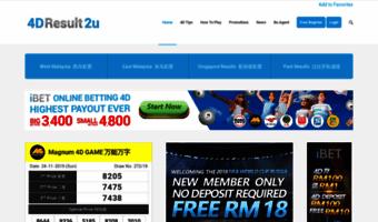 4dresult2u com ▷ Observe 4D Result 2u News | 4D Result