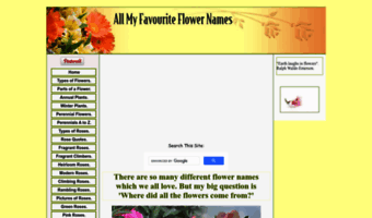 All My Favourite Flower Names Com Observe Allmyfavourite Flower