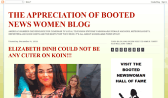 THE APPRECIATION OF BOOTED NEWS WOMEN BLOG : A Black Leather