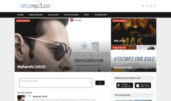 Atozmp3 in ▷ Observe Ato Zmp3 News | Telugu Mp3 Songs Free
