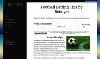 Betalyst com ▷ Observe Betalyst News   Football Betting Tips