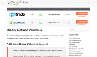 regulated binary options australia news