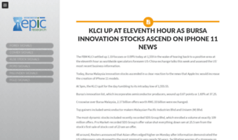 Blog epicresearch my ▷ Observe Blog Epic Research News | KLSE Daily
