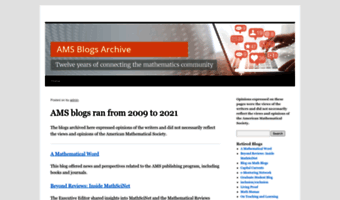 Blogs ams org ▷ Observe Blogs AMS News | Blogs offered by