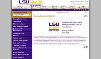 Catalog lsuhsc edu ▷ Observe Catalog Lsuhsc News