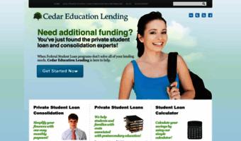 Student Loan Consolidation >> Cedaredlending Com Observe Cedar Ed Lending News