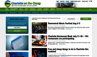 Charlotte On The Cheap >> Charlotteonthecheap Com Observe Charlotte On The Cheap