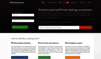 Dating scams database