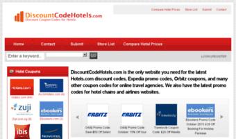 Discountcodehotels com ▷ Observe Discountcodehotels News