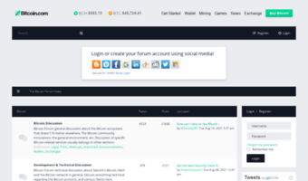 The bitcoin forum index