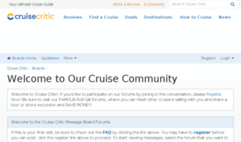 Message Cruise boards critic