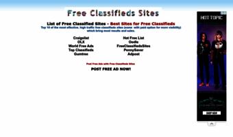 Freeclassifiedssites com ▷ Observe Free Classifieds Sites News
