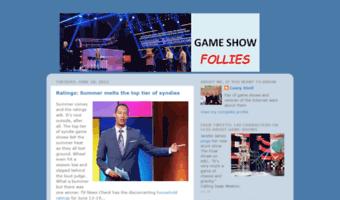 Gameshowfollies Blogspot Com Observe Game Show Follies Blogspot News Game Show Follies
