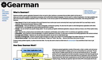 Gearman org ▷ Observe Gearman News   Gearman [Gearman Job Server]