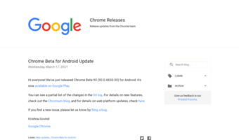 Googlechromereleases blogspot com ▷ Observe Google Chrome