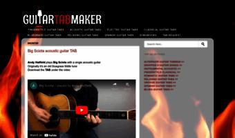 Guitartabmaker com ▷ Observe GUITARTABMAKER News
