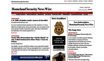 Homeland Security News Wire | Homelandsecuritynewswire Com Observe Homeland Security Newswire