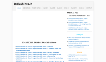 Indiashines in ▷ Observe India Shines News | CBSE Samples