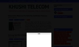 Khushitelecom blogspot com ▷ Observe KHUSHI TELECOM