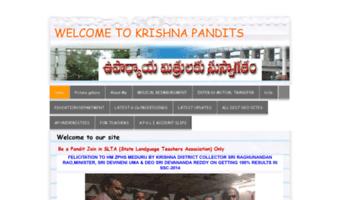Krishnapandits yolasite com ▷ Observe KRISHNA PANDITS