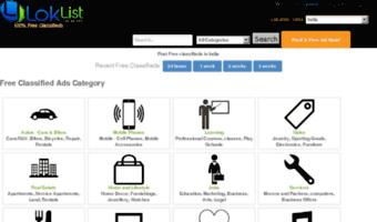 Loklist com ▷ Observe Loklist News | Free classifieds India, Free
