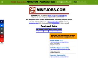 Minejobs com ▷ Observe Mine Jobs News   Mining Jobs, Mine