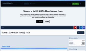 Multics info ▷ Observe MultiCS News | MultiCS & CSP & OScam