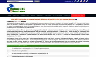 Onlineitiresult com ▷ Observe Online ITI Result News