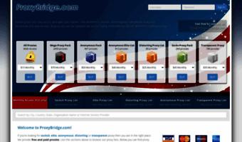 Proxybridge com ▷ Observe Proxy Bridge News   Free proxy, paid
