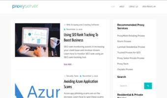 Proxyserver com ▷ Observe Proxyserver News