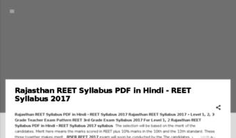 2015 reet pdf syllabus exam