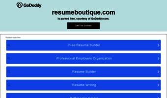 Resumeboutique Observe Resume Boutique News
