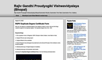 Rgpvmp blogspot com ▷ Observe Rgpvmp Blogspot News | Rajiv