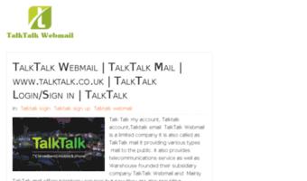 My Talktalk Webmail >> Talktalkwebmail Org Observe Talktalkwebmail News