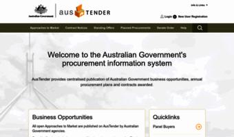 Tenders gov au ▷ Observe Tender S Gov News   AusTender: AusTender