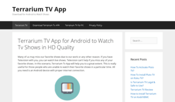 Terrariumtvappdownload com ▷ Observe Terrarium Tv App Download News