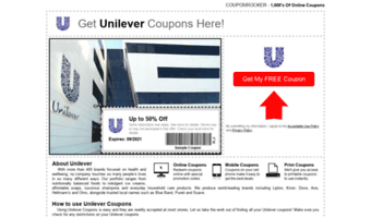 picture regarding Unilever Printable Coupons called â–· Adhere to Unilever Couponrocker