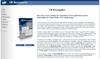 Vb-decompiler org ▷ Observe VB Decompiler News | Main
