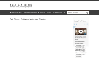 Videos americanblinds com ▷ Observe Video S American Blinds