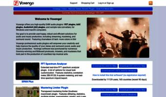 Voxengo com ▷ Observe Voxengo News | VST Plugins, AU