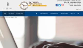Whitesuniversitymotors Com Observe White S University Motors News