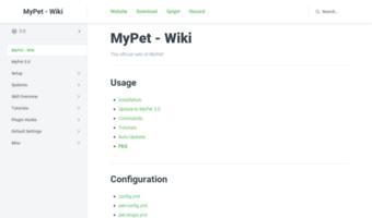 Wiki mypet-plugin de ▷ Observe Wiki My Pet Plugin News