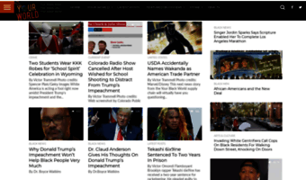 your black world Your Black World is pretty active and updates frequently with 100+ articles.